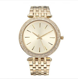Wholesale Green Dress Watches - 2017 Elegant New High Quality Luxury Crystal Diamond Watches Women Gold Watch Steel Strip Rose Gold Sparkling Dress Wristwatch Drop Ship