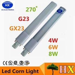 Wholesale G23 6w - G23 GX23 Led PL Light Super Bright 4W 6W 8W Led Bulbs 270 Angle Replace CFL Lights AC 85-265V
