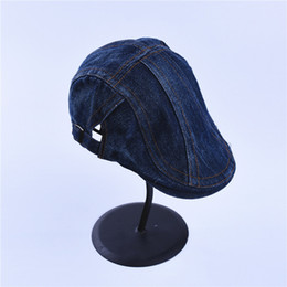 5547583168b Jeans Hats for Men Women High Quality Casual Unisex Denim Beret Caps  OutDoors Flat Cap for Cowboy Cotton Berets Caps For Men