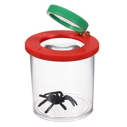 Wholesale Insect Toys Bug - Wholesale-Best Promotion 4X Two Lens Insect Viewer Locket Box Magnifier Bug Magnifying Loupe Kid Toy Gift Watch Repair Tool