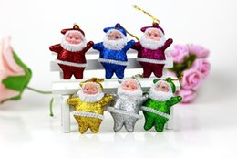 Wholesale Small Figurines - Little Santa Claus Gifts Small Old Man Hang Christmas Decoration Supplies Christmas candy gift free shipping