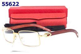 Wholesale Wood Black Eyeglasses Frames - Men Designer Rimmed glasses frame Eyeglasses Alloy Gold Wood Glasses Frames fashion women optical spectacle eyewear