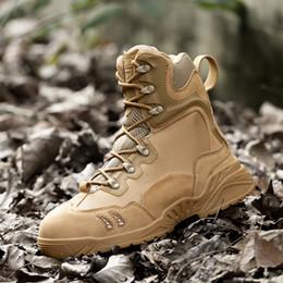 Wholesale Side Zipper Combat Boots - Men's Outdoor Combat Boots Special Forces Desert Training Side Zipper Army Combat Warm Tactical Snow Boots