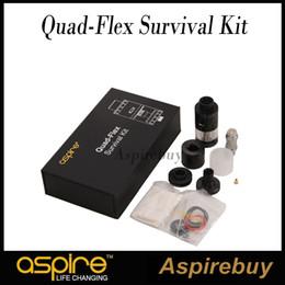 Wholesale Flex Styles - Aspire Quad-Flex Survival Kit QuadFlex 4-in-1 Style Tank Change to RDTA RDA Squonker RDA Nautilus X Different Levels of Vaping 100%Authentic