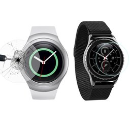 Wholesale Gears Install - 0.3mm Ultra Thin 9H Tempered Glass For Samsung Gear S2 S2 Classic S3 Smart Wtach Protective Glass Film Anti-shatter Shockproof