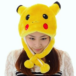 Wholesale Cosplay Faux Leather - WINTER cap cosplay Beanies hat many styles cartoon hat Anime Pocket Monsters Pikachu performances props Plush Fashion hat Pocket Monster