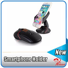 Wholesale Universal Cup Holders - Black Creative Windshield Dashboard Car Phone Stand Holder One Touch Mouse Suction Cup Cradle For LG G3 G5 Samsung Galaxy S6 S7 Edge