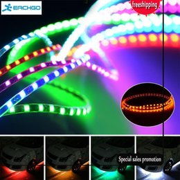 Wholesale 45cm Led Strips - 2017 Fashion Chassis Light Tears Long LED Light Bar 45CM New Style Car LED Decoration
