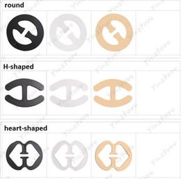 Wholesale Clip Invisible - Invisible Oval Shape Bra Buckle H-shape heart-shape Perfect Adjust Bra Clasp, Clip Cleavage Control Strap Buckle Underwear 500pcs lot