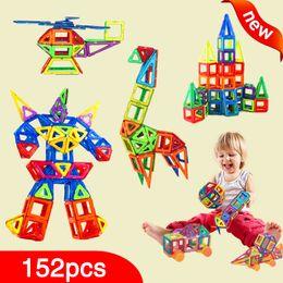 Wholesale Magnetic Toys For Kids Building - New 152pcs Mini Magnetic Designer Construction Set Model & Building Toy Plastic Magnetic Blocks Educational Toys For Kids Gift