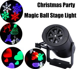 Wholesale Projects Light - Multi-color led Laser Light Moving Rgbw Projecting LED Lights Holiday whit 4PCS Switchable Pattern Lens Christmas Halloween party decoration