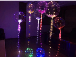 Wholesale Lead Lines - 2017 New bobo balloon led line string balloon light with colored light Decoration for Fastive Party Christmas Halloween Supplies
