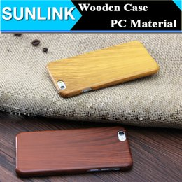 Wholesale Apple Wood Hard Cover - Eco-friendly Wood Grain Case Original Ecology Shockproof Hard PC Wooden Phone Shell Back Cover for iPhone 6 6S 7 Plus Best Sell