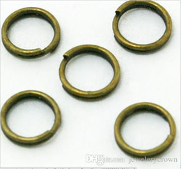 Wholesale Traditional Bags - Hot Wholesale bronze tone slip loop sing ring  jump ring 6x0.5mm 1000pcs bag