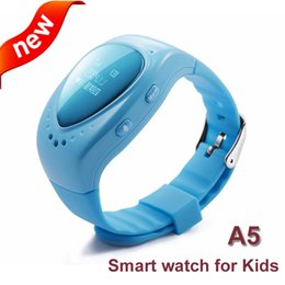 Wholesale Gsm Button - 2016 new Waterproof fashion A6 GPS Tracker Watch For Kids Children Smart Watch with SOS Google map Button GSM Phone Wristwatch