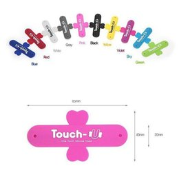 Wholesale One Touch Holder - Universal Portable Touch U One Touch Silicone Stand Holder Cell Phone Mounts For IPhone 7 6 plus 5S Galaxy S7 Edge Retail Package