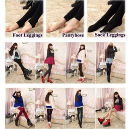 Wholesale Thick Slimming Tights - 3 Styles Fleece Leggings Warm Winter Faux Velvet Lined Legging Thick Slim Leggings Tights Super Elastic Pantyhose CCA7671 500pcs