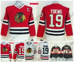 Wholesale Women S Shirts Cheap - Womens Blackhawks Jersey #19 Jonathan Toews Black Alternate Red Home Cheap 2016 Chicago Blackhawks Hockey Jersey White Shirt