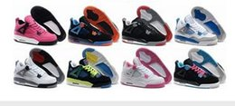 Wholesale Zapatillas Basket - Newest Hot Sale Basketball Shoes 4s Sports Sneakers Women Zapatillas Authentic Real Replicas Basket Ball Top Quality 4 Size41-47