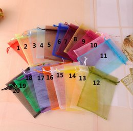 Wholesale Organza Paper Bag - 100pcs lot Organza Wedding Xmas Party Favor Gift Candy Bags Jewellery pouches Gift Bag Party Wedding Favor Bag 7*9cm