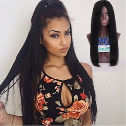 Wholesale Wig Hair Human High Light - Free shipping 100% human hair full lace wigs straight lace wig free part natural color high density wig with baby hair natural hairline