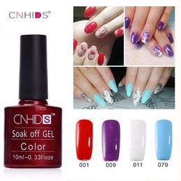 Wholesale cheap uv gel nail polish - Wholesale- NEW CNHIDS 1PC Nail Gel Polish UV&LED Shining Colorful 132 Colors10ML Long lasting soak off Varnish cheap Manicure
