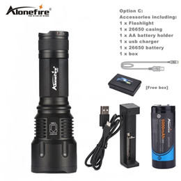 Wholesale T6 Aa - AloneFire X980 LED Flashlight 26650 Zoom Torch Waterproof T6 2000LM 3 Mode Light For 3x AA or 3.7v 26650 Battery