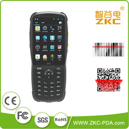 Wholesale rfid codes - Wholesale- ZKC PDA3501 GSM 3G WiFi RFID NFC Android Handheld PDA 1D Laser Bar code Scanner Machine