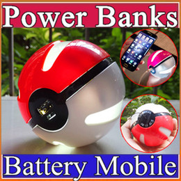 Wholesale Ar Ball - For iphone 7 Poke go ball power bank 10000 mAh for AR game pokeball powerbank With LED Light Portable Charge Figure Toys For Samsung s7 G-YD