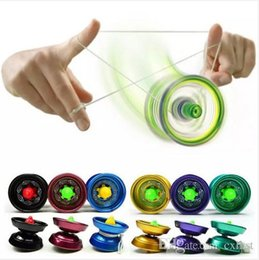 Wholesale Yoyo Strings Free Shipping - Aluminum Design Professional YoYo Ball Bearing String Trick Alloy Kids Brand New Good Quality Free Shipping