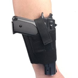 Wholesale Gun Carrying - Concealed Universal Black Carry Ankle Leg Pistol Gun Holster LCP LC9 PF9 Small for sig 223 SCCY 9mm