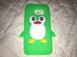 Wholesale silicone cover penguin - 3D Penguin Soft Silicone Case For Iphone 6 6S 7 Plus Samsung Galaxy 2017 A3 A5 S7 EDGE Huawei Ascend NOVA P9 Lite Cartoon Phone Cover 350pcs