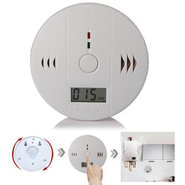Wholesale Detector Home Safety Alarm - High Sensitive Digital LCD Backlight Carbon Monoxide Detector Tester Poisoning CO Gas Sensor Alarm for Home Security Safety with Retail box