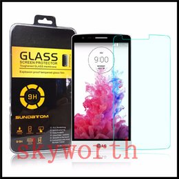 Wholesale Screen Protector Grand Retail Package - For LG Stylo K7 K10 V10 G4 Tempered Glass Screen Protector For LG LS770 Core Grand Prime G5308 Explosion proof W  Retail Package