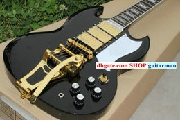 Wholesale China Sg Guitar - Custom Shop 400 Electric Guitar Black sg With tremolo Electric Guitar free shipping China guitar New Style