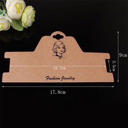 Wholesale Necklace Packaging Cards - Free shipping! (100 pieces lot) 17.8*9cmKraft paper, card board packaging jewelry necklace CARDS