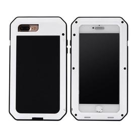 Wholesale Iphone Heavy Duty Metal Case - Case For IPHONE 7 Plus Heavy Duty Shock Drop Waterproof Aluminum Metal Phone Cover 1 pcs drop shipping