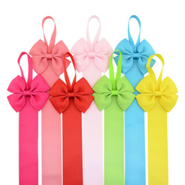 Wholesale Finish Hair - 11 Colors Baby Girl Bow Hairpin Storage Tape Boutique Barrettes Finishing the rope Ribbon Hair Accessories