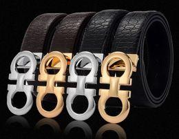 Wholesale Mens Designer Genuine Leather Belts - original designer Big buckle belts Men luxury Buckle belt top fashion mens Genuine leather belts free shipping