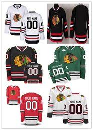 Персонализация Чикаго Блэкхокс Пользовательские Мужчины Женщины Молодежные Хоккейные Jerseys Красный 2017 Белый Зимний Классический Черный Третий Стадион Серия Зеленый S, 4XL от
