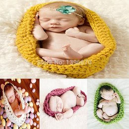 Wholesale Baby Summer Sleeping Bag - New 4 stlyles Handmade Baby photography props cradle Newborn photography sleeping bag Children Costume Set Free shipping animal backpack
