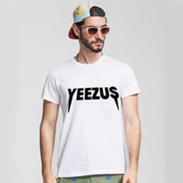 Wholesale Yeezus Tour Shirt - Yeezus Kanye West T Shirts Men Tour Concert Fitness Man T-Shirt Cotton Short Sleeve Mens tshirt Tops Tee Shirt Plus Size