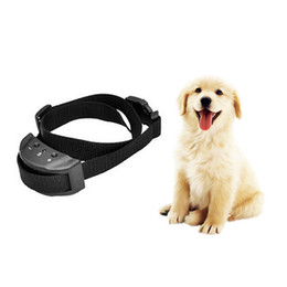Wholesale Remote Shock Collars - PET853 Dog Training Collar Anti Bark Electric No Shock for Pet Automatic Remote Control Plastic Adjustable Trainer Necklace