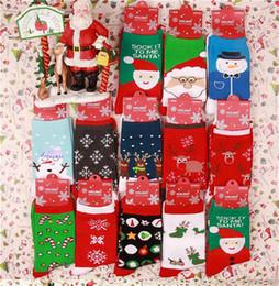 Wholesale Snowman Boxes - Christmas socks Hot Selling Fashion Christmas Snowman Snowflake Deer Design Womens Socks Cute Christmas Gift Good Quality