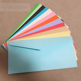 Wholesale Paper Organizer Plastic - Wholesale- 50pcs 22x11cm Color Paper Envelope Wedding Invitation Envelopes Card Organizer