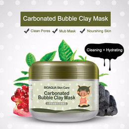Wholesale Kawaii Mask - 100g BIOAQUA Facial Mask Kawaii Black Pig Carbonated Bubble Clay Mask Winter Deep Cleaning Moisturizing Skin Care