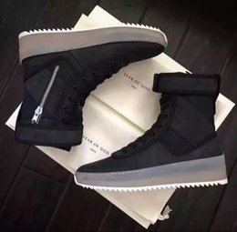 Wholesale Red Med - Top Quality Fear of God Military Sneakers Men's Hight Top Boots Fashion Work Boots Mens Shoes
