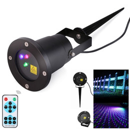 Wholesale Laser Fireflies Light - Outdoor LED Projector laser lights Red&Green& Blue Firefly christmas laser light projector for garden AC 110-240V + remote controller