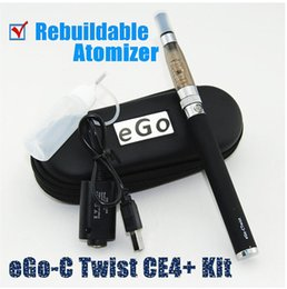 Wholesale Ego C Twist Rebuildable - Ego Twist Ce4+ Electronic Cigarette kit With 650mah 900mah 1100mah 1300mah Ego-c Twist e cigarette battery with Ce4+ Rebuildable Atomizer
