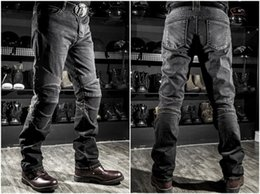 Pantalones gratis online-Envío gratis NUEVA 2016 Moda Hombres Mujeres KOMINE motocicleta Jeans motocicleta Riding racing pants With Pads azul negro S-3XL